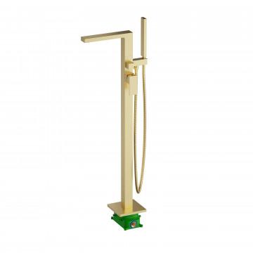 Смеситель напольный для ванны с душем Timo Selene 2210/17Y-CR Золото матовое
