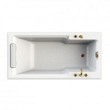 Акриловая ванна Радомир Fra Grande Руссильон золото, комплект панелей 4-01-3-0-1-424