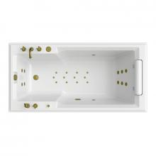 Гидромассажная ванна Радомир Fra Grande Руссильон, форсунки бронза 4-01-4-0-0-424
