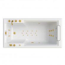 Гидромассажная ванна Радомир Fra Grande Руссильон, форсунки золото 4-01-3-0-0-424