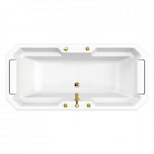 Акриловая ванна Радомир Fra Grande Фернандо золото, комплект панелей 4-01-3-0-1-422