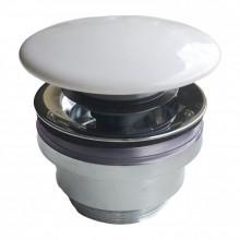 Донный клапан с керамической крышкой Kerama Marazzi Plaza DR.1/WHT