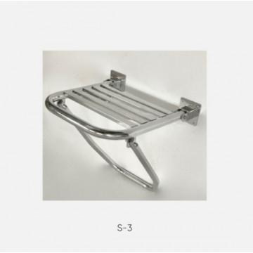 Kranik откидное сиденье для душа усиленное с упором в пол S-3