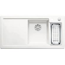 Кухонная мойка Blanco Axon II 6 S Ceramic PuraPlus глянцевый, белый чаша справа