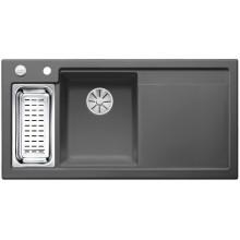 Кухонная мойка Blanco Axon II 6 S Ceramic PuraPlus, базальт чаша слева
