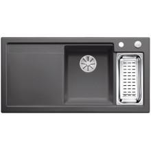 Кухонная мойка Blanco Axon II 6 S Ceramic PuraPlus, базальт чаша справа