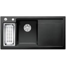 Кухонная мойка Blanco Axon II 6 S Ceramic PuraPlus, черный чаша слева