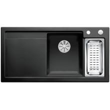 Кухонная мойка Blanco Axon II 6 S Ceramic PuraPlus, черный чаша справа