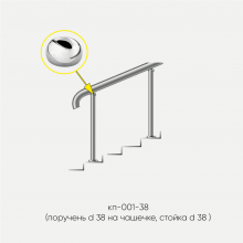 Kranik перила для лестниц без ригелей кп-001-38