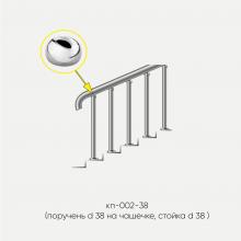 Kranik перила для лестниц без ригелей со стойками на каждую ступень кп-002-38