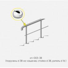 Kranik перила для лестниц с одним ригелем кп-003-38-201