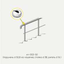 Kranik перила для лестниц с одним ригелем кп-003-50-201