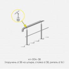 Kranik перила для лестниц на штыре с одним ригелем кп-004-38