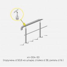 Kranik перила для лестниц на штыре с одним ригелем кп-004-50
