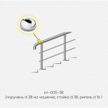 Kranik перила для лестниц с 2 ригелями кп-005-38