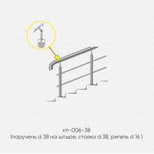 Kranik перила для лестниц на штыре с 2 ригелями кп-006-38