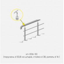 Kranik перила для лестниц на штыре с 2 ригелями кп-006-50