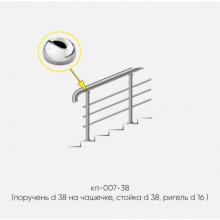 Kranik перила для лестниц 3 ригеля кп-007-38