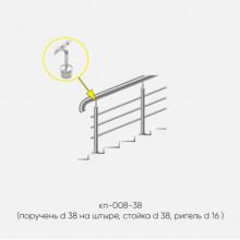 Kranik перила для лестниц на штыре 3 ригеля кп-008-38