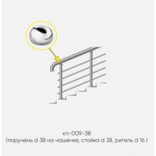 Kranik перила для лестниц 4 ригеля кп-009-38