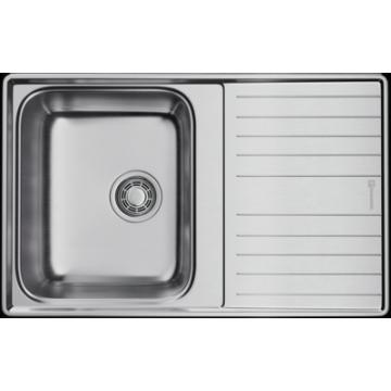 Кухонная мойка Omoikiri Sagami 79-IN, с крылом, оборачиваемая, нержавеющая сталь 4993735
