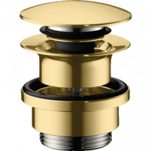 Донный клапан Hansgrohe 50100990 Push-Open золото