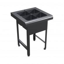 Ванна моечная 4-х секционная для санитарной обработки яиц антивандальная 600х600х800 OCEANUS 7-005.1