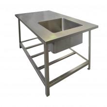 Стол с моечной ванной антивандальный 1500х880х860 OCEANUS 7-006.3