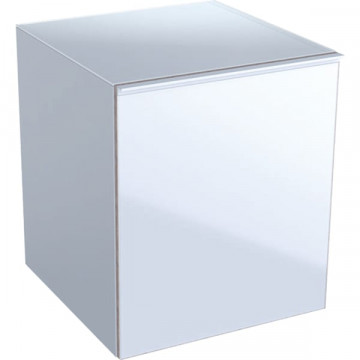 Шкафчик подвесной Geberit Acanto 500.618.01.2 белый / глянцевое стекло