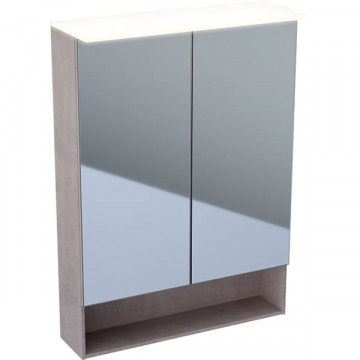 Зеркальный шкаф Geberit Acanto 500.644.00.2 дуб Мистик / меламин, структура дерева