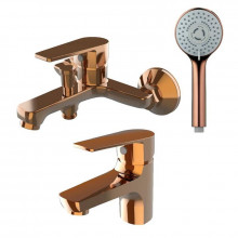 Комплект смесителей Orange Loop M26-311rg розовое золото