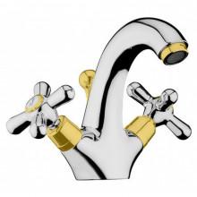 Cмеситель для раковины Webert Armony AM700102017 хром/золото