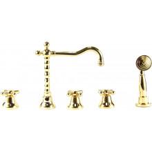 Cмеситель на борт ванны Webert Armony AM730402010 золото