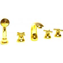 Cмеситель на борт ванны Webert Armony AM730401010 золото