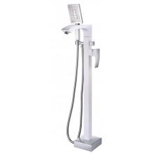 Напольный смеситель для ванны Gappo Jacob G3007-8 белый/хром