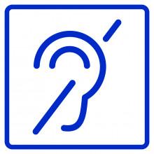 Визуальный знак - Доступность для инвалидов по слуху 150х200, полистирол