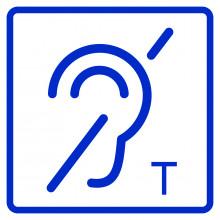 Визуальный знак - Помещение (зона) оборудовано индукционной петлей 150х150, полистирол