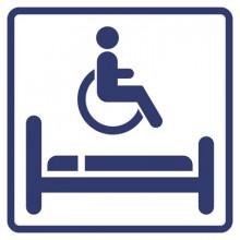 Визуальный знак - Комната длительного отдыха для инвалидов 150х150, полистирол