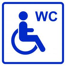 Визуальный знак  - Туалет доступный для инвалидов на кресле-коляске 150х150, полистирол