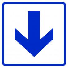 Визуальный знак - Прямо, вперед и вниз 150х150, полистирол