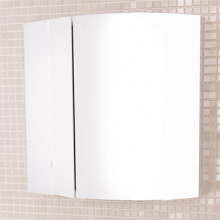 Зеркало-шкаф Comforty Лаура-60-2 белый