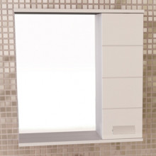 Зеркало-шкаф Comforty Модена-60 белый
