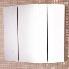 Зеркало-шкаф Comforty Лаура-75-3 белый