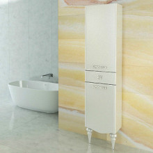 Шкаф-колонна Comforty Монако-40 правая, белая