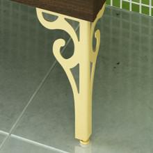 Комплект ножек декоративных Comforty 2 шт. (золото) к тумбе-умывальнику Римини 60,80 (фигурные)