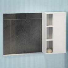Зеркало-шкаф Comforty Милан-120 белый