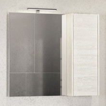 Зеркало-шкаф Comforty Бремен-90 дуб белый