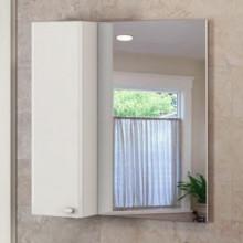 Зеркало-шкаф Comforty Неаполь-80 белый глянец