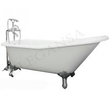 Чугунная ванна Elegansa Schale Chrome отдельностоящая