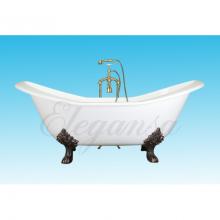 Чугунная ванна Elegansa Taiss Bronze отдельностоящая